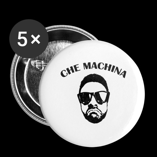 CHE MACHINA - Confezione da 5 spille grandi (56 mm)