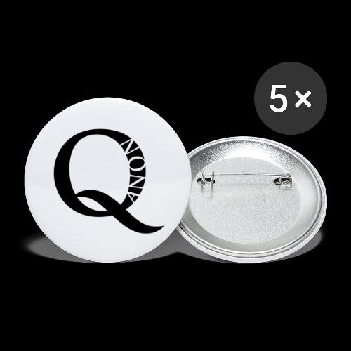Q Anon Q-Anon Original Logo - Buttons groß 56 mm (5er Pack)