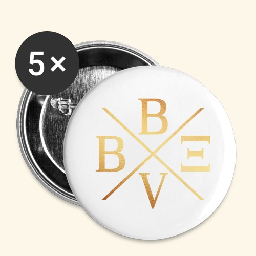 BVBE Gold X Factor - Buttons large 2.2''/56 mm(5-pack)