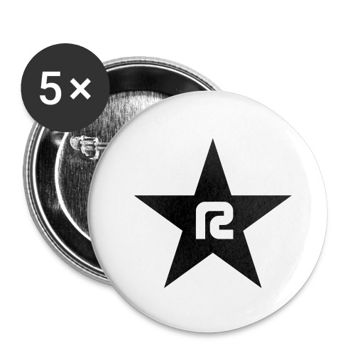 R STAR - Buttons groß 56 mm (5er Pack)