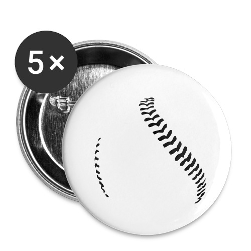 Baseball - Buttons large 2.2''/56 mm (5-pack)