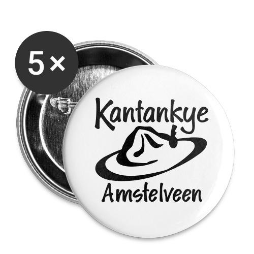logo naam hoed amstelveen - Buttons groot 56 mm (5-pack)