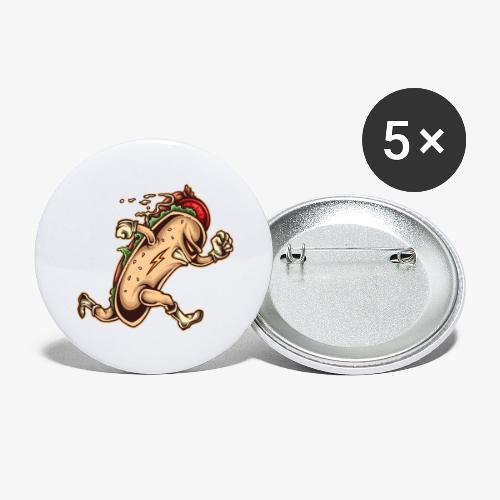 Hot Dog Héros - Lot de 5 grands badges (56 mm)