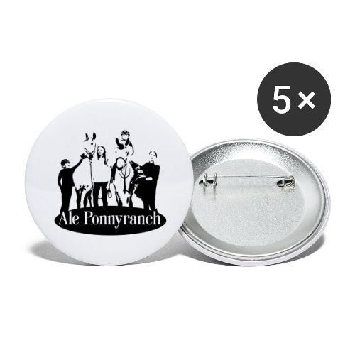 Ale Ponnyranch - Stora knappar 56 mm (5-pack)