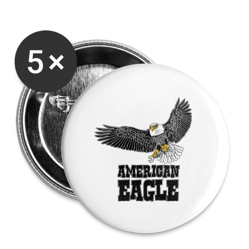 American eagle 2 - Buttons groot 56 mm (5-pack)