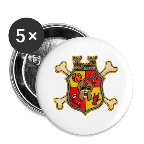 Teenager Premium T-Shirt - Wappen Burg Schreckenst - Buttons groß 56 mm (5er Pack)