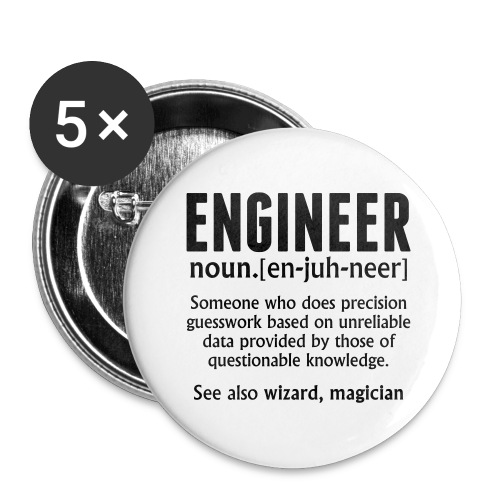 ENGINEER - Buttons large 2.2''/56 mm (5-pack)