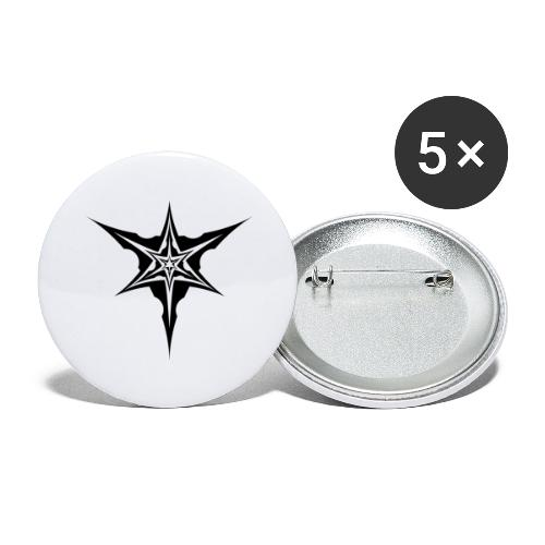Psybreaks visuel 1 - black color - Lot de 5 grands badges (56 mm)