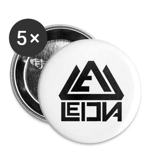 LEDUNA BLACK LOGO - Stora knappar 56 mm (5-pack)
