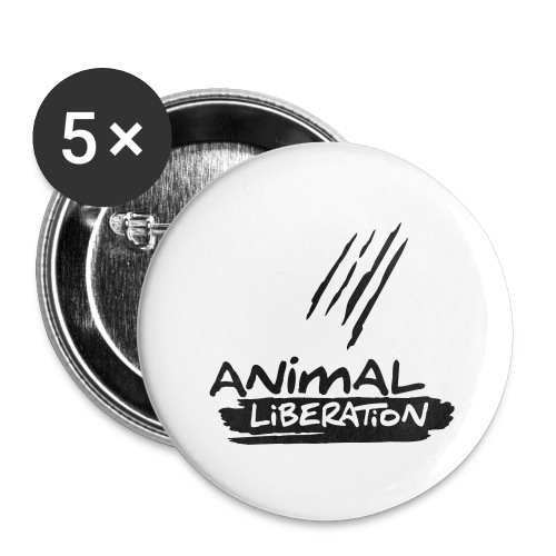 animalliberation01o_225x225 - Buttons groß 56 mm (5er Pack)