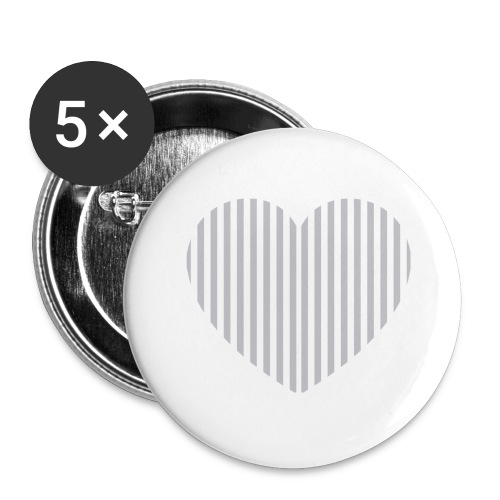 heart_striped.png - Buttons large 2.2''/56 mm(5-pack)