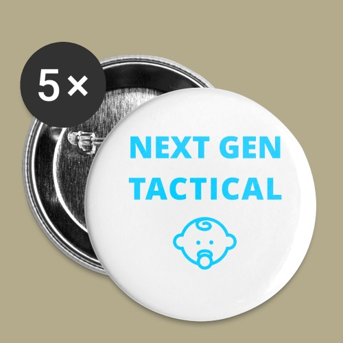 Tactical Baby Boy - Buttons groot 56 mm (5-pack)