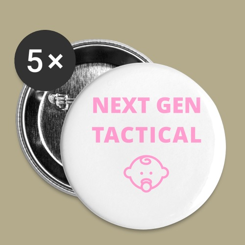 Tactical Baby Girl - Buttons groot 56 mm (5-pack)