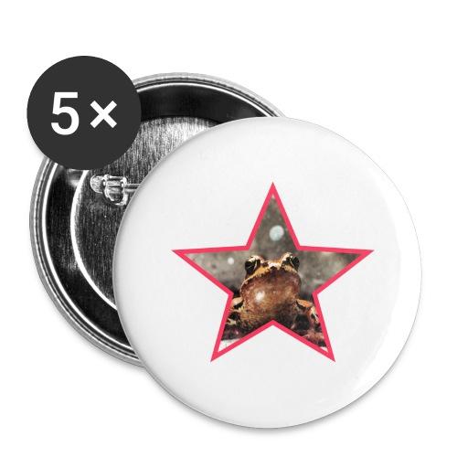 Frog Star - Przypinka duża 56 mm (pakiet 5 szt.)