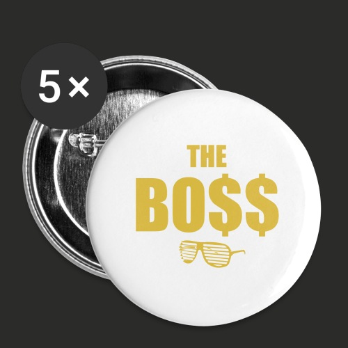 The Bo$$ Mens T-Shirt - Buttons large 2.2''/56 mm(5-pack)