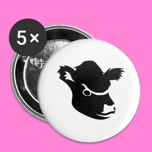 gallowayhoofd1 - Buttons groot 56 mm (5-pack)