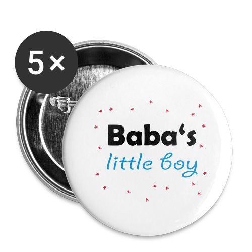 Baba's litte boy Babybody - Buttons groß 56 mm (5er Pack)