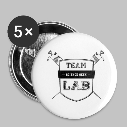 Team Lab - Buttons large 2.2''/56 mm(5-pack)