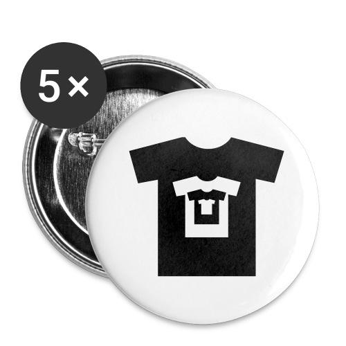 t-shirt récursif - Lot de 5 grands badges (56 mm)