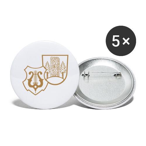 MVW Welden Logo Schwarz gross - Buttons groß 56 mm (5er Pack)