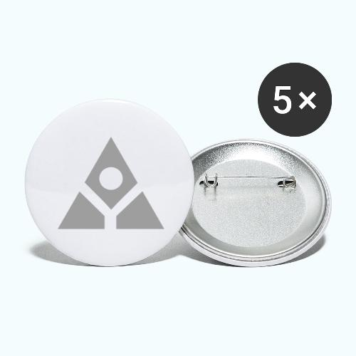 Sacred geometry gray pyramid circle in balance - Buttons large 2.2''/56 mm(5-pack)