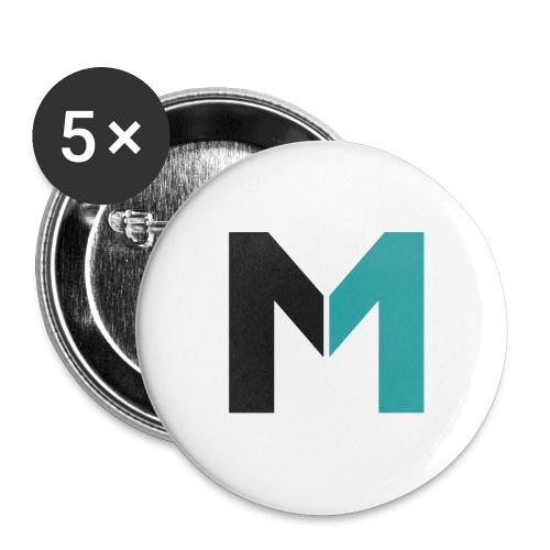 Logo M - Buttons groß 56 mm (5er Pack)