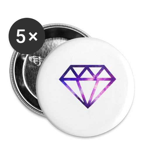 Galaxy Diamonds - Buttons large 2.2''/56 mm (5-pack)