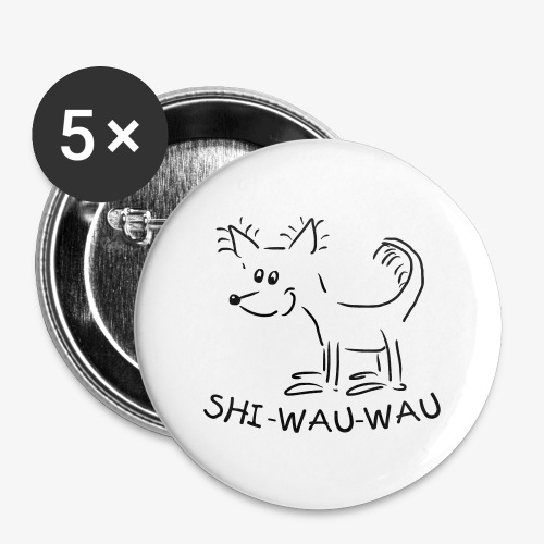Chihuahua - Buttons groß 56 mm (5er Pack)