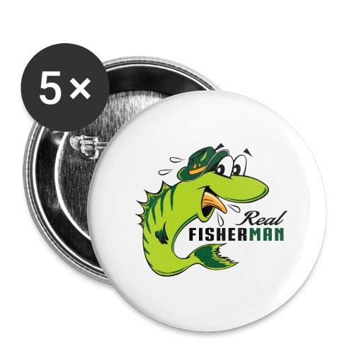 10-38 REAL FISHERMAN - TODELLINEN KALASTAJA - Rintamerkit isot 56 mm (5kpl pakkauksessa)