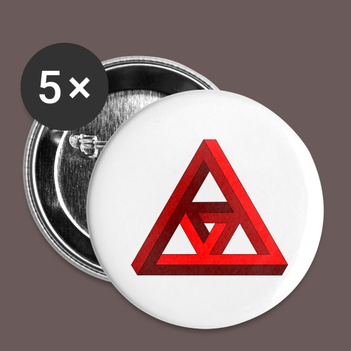 illusion - Buttons/Badges stor, 56 mm (5-pack)