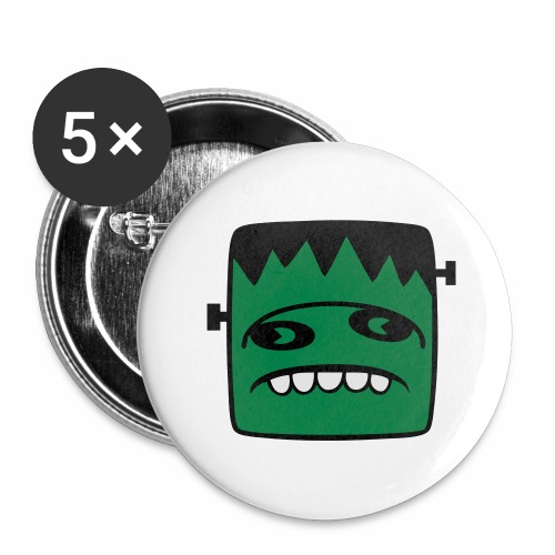 Fonster pur - Buttons groß 56 mm (5er Pack)