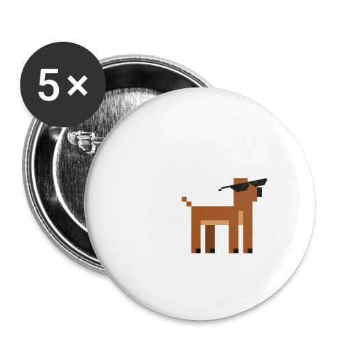 Christmas Xmas Deer Pixel Funny - Buttons large 2.2''/56 mm(5-pack)