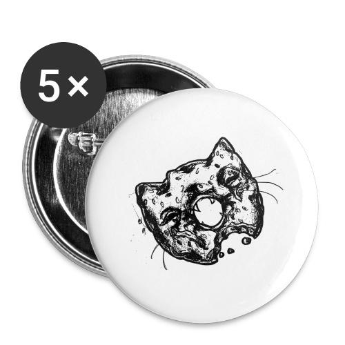 Dona Gato Negro - Paquete de 5 chapas grandes (56 mm)