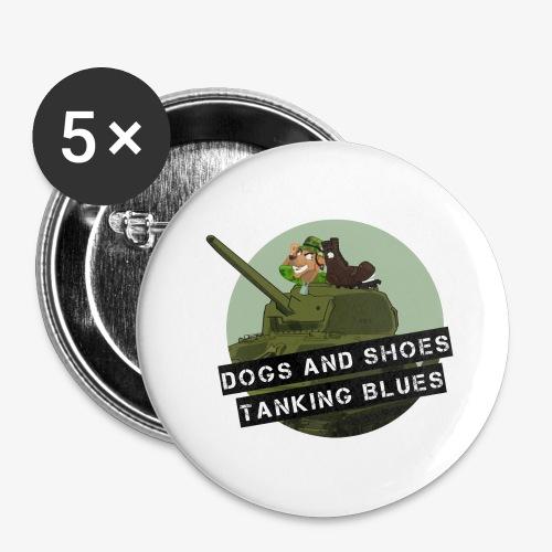 logo dogs nieuw - Buttons groot 56 mm (5-pack)