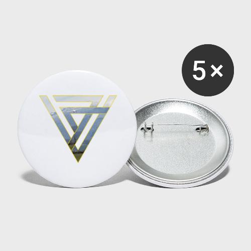Triangle Plane - Buttons groß 56 mm (5er Pack)
