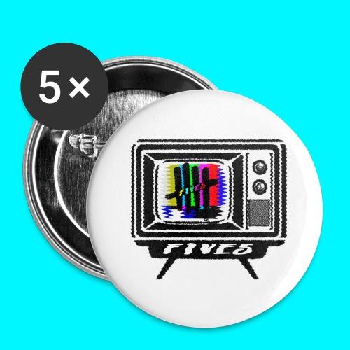 FIVES old tv broadcast - Lot de 5 grands badges (56 mm)