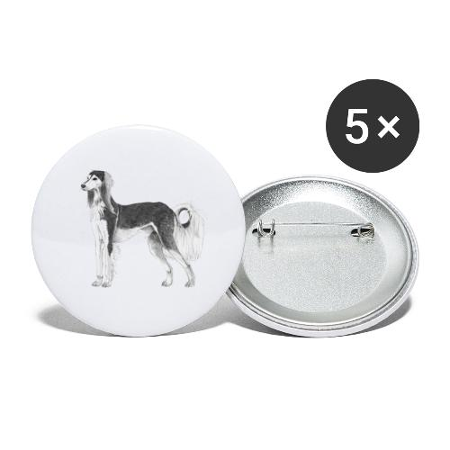 saluki - Buttons/Badges stor, 56 mm (5-pack)