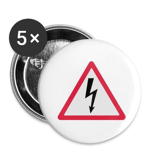 blitz - Buttons groß 56 mm (5er Pack)