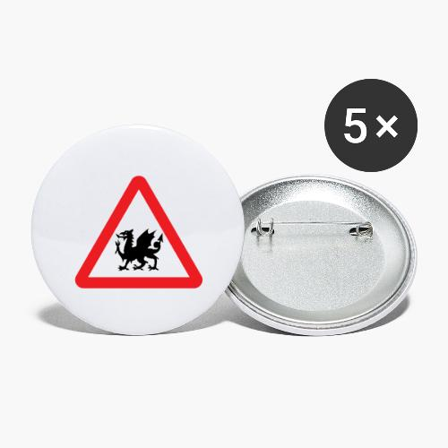 Welsh Dragon - Buttons large 2.2''/56 mm(5-pack)