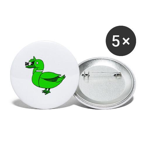 Greenduck Film Just Duck - Buttons/Badges stor, 56 mm (5-pack)