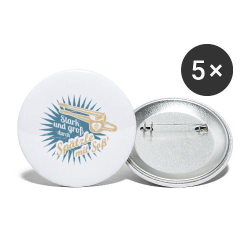 Spätzle mit Soß - Buttons groß 56 mm (5er Pack)