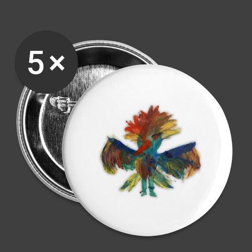 Mayas bird - Buttons large 2.2''/56 mm(5-pack)