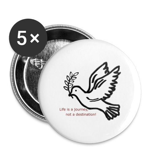 Friede - Buttons groß 56 mm (5er Pack)