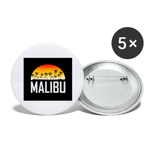 Malibu Nights - Buttons large 2.2''/56 mm(5-pack)