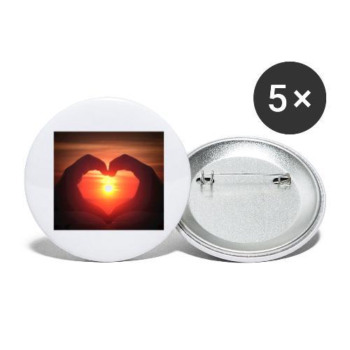 Balaton pur [1] - Buttons groß 56 mm (5er Pack)