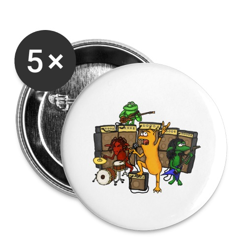 Kobold Metal Band - Buttons large 2.2''/56 mm(5-pack)