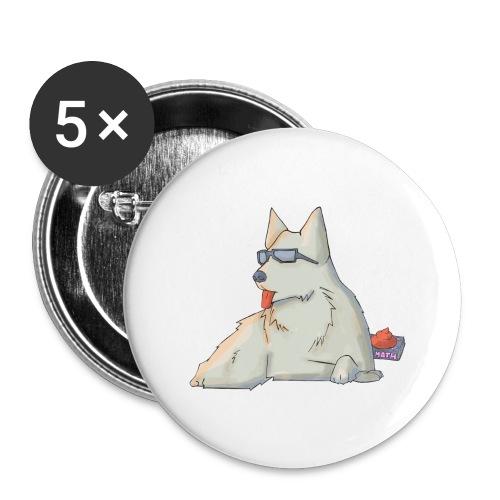 Cane - Confezione da 5 spille grandi (56 mm)