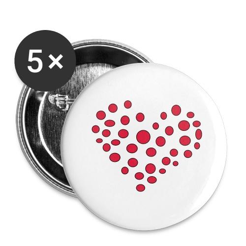 Polka - Buttons/Badges stor, 56 mm (5-pack)