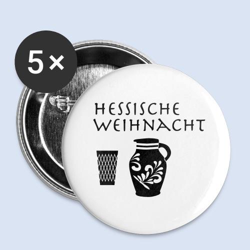 Hessische Weihnachten - Buttons groß 56 mm (5er Pack)