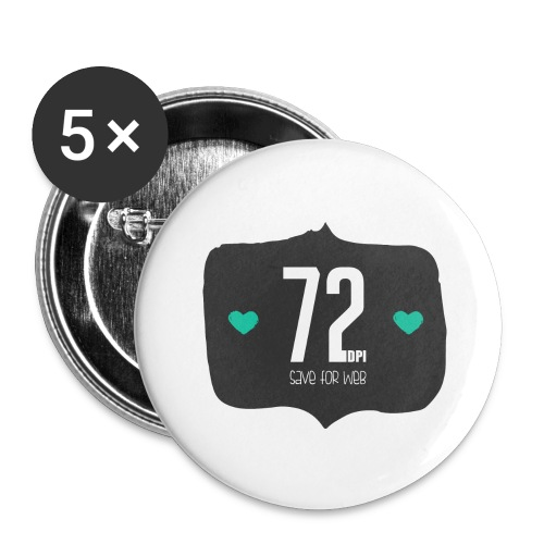 72DPI - Buttons groot 56 mm (5-pack)